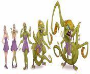 Lizzie TF [F Woman -> F Alien Monster] by PinklePickle from alien demon hentai monster